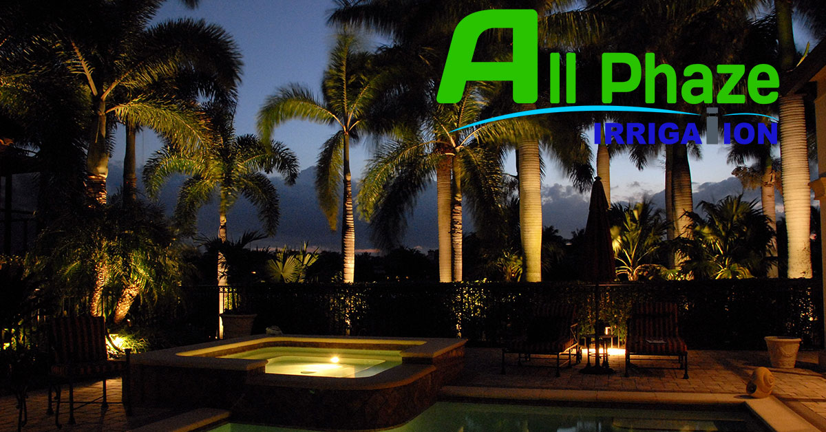 10 landscape lighting tips all phaze irrigation services landscape lighting by all phaze irrigation aloadofball Choice Image